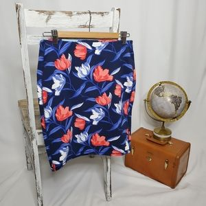 Blue Floral Old Navy Skirt - Sz S (NWT)